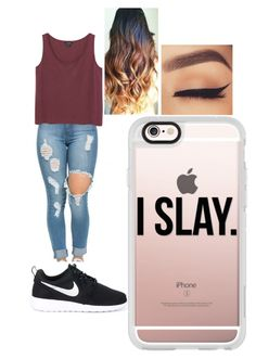 """Untitled #4"" by ilianavaldez on Polyvore featuring Monki, NIKE and Casetify"