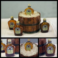 Crown Royal grooms cake.   Hahaha this is perfect!!