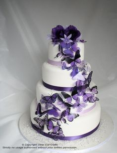 Stunning Butterfly Wedding Cake