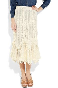 midi skirt--but not with that blouse!!