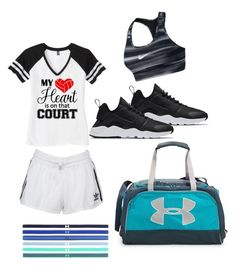 """Volleyball wear"" by supergirltyler on Polyvore featuring NIKE, adidas Originals and Under Armour"