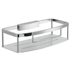 Shop for Nameeks Gedy Collection Surface Mounted Shower Basket - Polished Chrome. Get free delivery On EVERYTHING* Overstock - Your Online Home Improvement Outlet Store! Bathtub Accessories, Bathroom Baskets, Bathroom Ideas, Shower Basket, Luxury Shower, Shower Shelves, Bathtub Shower, Kitchen And Bath Authority, All Modern