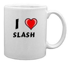 Keramische Tasse mit Aufschrift Ich liebe Slash (Vorname/Zuname/Spitzname) - http://geschirrkaufen.online/shopzeus/keramische-tasse-mit-aufschrift-ich-liebe-slash