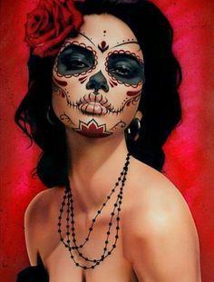 Beautiful Dia de los muertos costume, love this