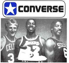 Basketball's four greatest stars, Bird, Magic, Doc and Converse