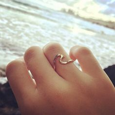 Gold Wave Ring, Hawaii Beach Jewelry, Surfer Girl, Girls Gift Idea, Hammered, Handmade Maui, Summer Fashion, Mermaid Accessory, Ocean Lover by HanaMauiCreations on Etsy https://www.etsy.com/listing/192804271/gold-wave-ring-hawaii-beach-jewelry