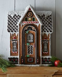 A gingerbread house is sooo adorable and pretty! But these incredible ones take gingerbread houses to the next level! Gingerbread House Designs, Gingerbread Village, Gingerbread Decorations, Christmas Gingerbread House, Gingerbread Cookies, Christmas Decorations, Gingerbread Men, Christmas Baking, Christmas Time