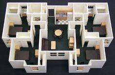 Interior Scale Model - Howard Architectural Models Callaway Dorms Model