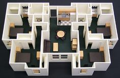 Interior Scale Model - Howard Architectural Models Callaway Dorms Model