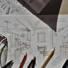 sketching in the sun :) #magdalenasobula #interiorsketch #sketching #interiorillustration #fireplace #classicinterior #pe2 #interiordesign