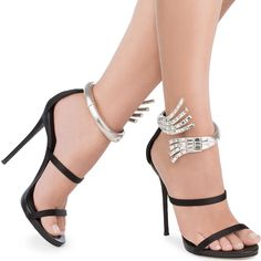 Giuseppe Zanotti 'Vera' Satin Sandal With Crystal Anklet