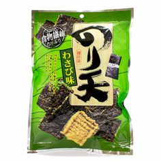 Wasabi + seaweed = nori crackers (or noriten) with some kick. Don't say we didn't warn you! Wasabi-flavored seaweed is the ultimate snack for those looking to add some spice to their day. It's a crisp