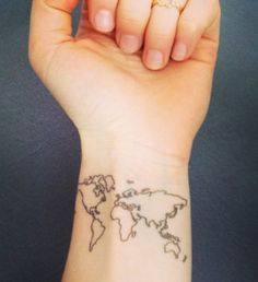 40 world map tattoos that will ignite your inner travel bug verses 40 world map tattoos that will ignite your inner travel bug verses tattoo and future tattoos gumiabroncs Gallery