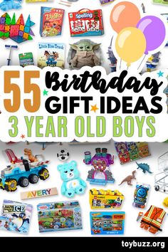 These 50+ Birthday Gifts for 3 Year Old Boys are gonna be amazing for our kids' birthday parties!! I can't believe you can see all of the coolest gifts for 3 year olds birthdays all in one place. 50 Birthday, Birthday Gifts For Boys, Birthday Parties, 3 Year Old Boy, Milestone Birthdays, Old Boys, Our Kids, Cool Toys, Cool Gifts