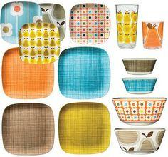 Tableware by Orla Kiely.