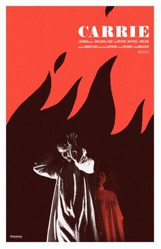 CARRIE by Adam Juresko We Movie, Film Movie, Carrie Movie, Scary Movies, Good Movies, Stephen King Books, Cinema, Danse Macabre, Unique Poster