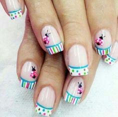 Most Popular Spring Nail Colors Of 2017 - Makeup Spring Nail Colors, Spring Nail Art, Nail Designs Spring, Spring Nails, Nail Art Designs, Funky Nails, Trendy Nails, Ladybug Nails, Hair And Nails