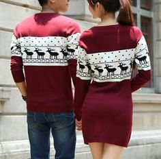 Cute Girlfriend Boyfriend Matching Winter Jumper for 2 | Unique ...