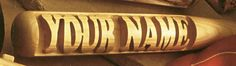 Get your name carved into a 18 inch professional wood baseball bat. This is the perfect gift for any baseball fan. Each bat also comes with it's own rack for