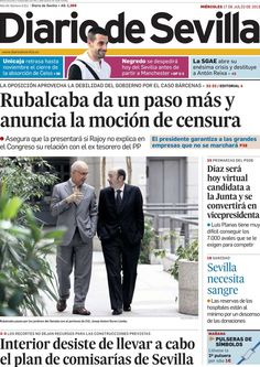 Los Titulares y Portadas de Noticias Destacadas Españolas del 17 de Julio de 2013 del Diario de Sevilla ¿Que le pareció esta Portada de este Diario Español?