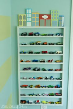Hot Wheels Parking Garage, a great DIY idea to house your kid's cars! - Little Bits of Home