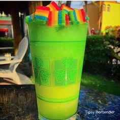 Xtreme Irish Rainbow Cocktail - For more delicious recipes and drinks, visit us… Candy Drinks, Liquor Drinks, Cocktail Drinks, Alcoholic Drinks, Cocktails, Drinks Alcohol Recipes, Yummy Drinks, Drink Recipes, Rainbow Cocktail