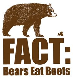 Fact Bears Eat Beats Funny The Office Tshirt Quote by BioChickiee, $14.99