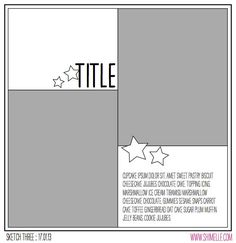 paper: pretty paper. true stories. {and scrapbooking classes with cupcakes.}: Sketch to Scrapbook Page :: Scrapbooking with two photos in quadrants