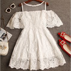 """Item Type:Dress Material:Cotton Sleeve Length:Short Sleeve Collar:Round Neck Pattern:Solid Color Style:Fashion Color:Black ,White Size: XS (US size) Bust: 31-33"""", Waist: 23-25"""", Hips: 33-35"""" S (US siz"""