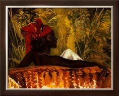 I really want this print of Trinidadian artist Boscoe Holder's The Head Tie for Christmas.