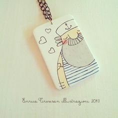 Necklace with a sweet sailor.