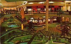 Macon_Mall_GA..boy I remember when it looked like this..spent most of my childhood tossing pennies into those blue fountains