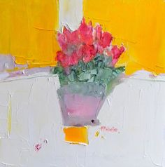 Junction Art Gallery - Alison McWhirter - 'Sayme Ling Cyclamen' Oil on Canvas £1,450.00  www.junctionartgallery.co.uk/artists/painting/alison-mcwhirter