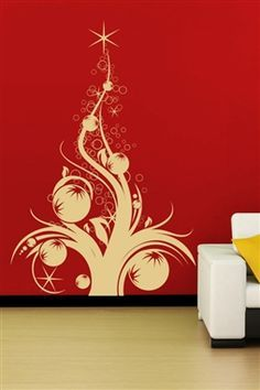 Christmas wall decals swirls wall decals and walls i just discovered some really cool wall art it do it yourself wall decals for kids and adults christmas wall decals tree with ornaments solutioingenieria Image collections