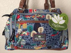 LILY BLOOM Who Let Dogs Out Maggie Satchel Women Purse Bag Multi-color #LilyBloom #Satchel