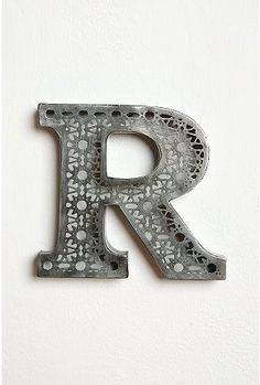 R - Acid etched letters from Urban Outfitters