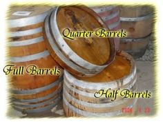 A place to buy wine barrels for the cute ideas on Pinterest (bar, planter, shelves, etc.)