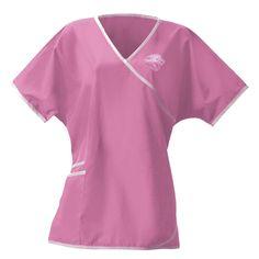 1deb1905d9f NFL League Logo - Jacksonville Jaguars Women's Wrap Scrub Top - Pink -  X-Large