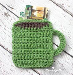 Crochet Coffee Mug Gift Card Holder | Repeat Crafter Me | Bloglovin'