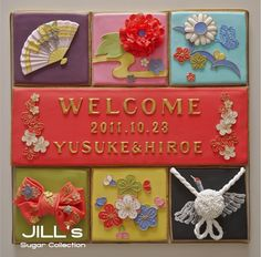 Welcome board Japanese | Flickr - Photo Sharing! アイシングクッキー ウェルカムボード 和装