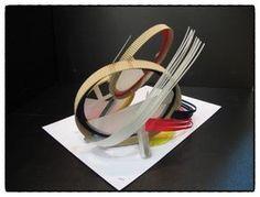 2014 국민대 실기대회 평면조형 은상 수상 재현작입니다^^2014 국민대 수상작은 아직 미발표되었습니다. 9... Conceptual Model Architecture, Origami Architecture, Architecture Design, Pavilion Design, Object Drawing, Paper Engineering, School Art Projects, Textile Artists, Geometric Art