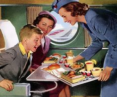 Wow! I want to be that excited when I'm served food on a plane!