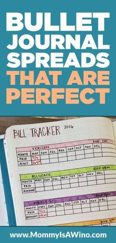 Bullet Journal Spreads That Are Perfect - Bullet Journal Layouts that help keep you organized and on track with all your goals.