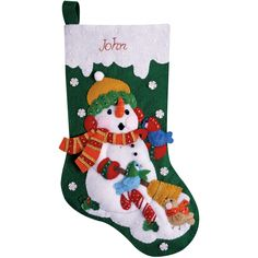 Decorating Christmas stocking as you want it makes it a very special experience. The Tobin Design Works Stocking Felt Applique Kit lets you accessorize your stocking the way you like it. These adorabl