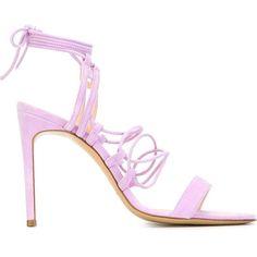 Bionda Castana Viola Sandals (2 265 PLN) ❤ liked on Polyvore featuring shoes, sandals, suede sandals, bionda castana shoes, bionda castana, suede shoes and lilac shoes