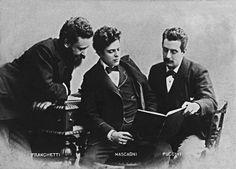 Alberto Franchetti (1860-1942), Pietro Mascagni (1863-1945) and Giacomo Puccini (1858-1924)