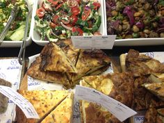 A selection of takeaway fishes in the deli