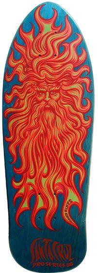 Jim Phillips SUN GOD graphic for Santa Cruz Skateboards rider Jason Jessee