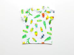 Beetles baby t-shirt, toddler t-shirt, baby boy t-shirt, baby girl t-shirt, green t-shirt, baby gift, summer baby clothes, baby boy clothes