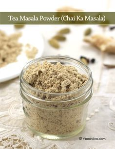 Tea Masala Powder - Indian Style Chai Ka Masala - Step by Step Photo Recipe(Chai Spice Mix) Masala Tea, Masala Spice, Garam Masala, Masala Powder Recipe, Masala Recipe, Veg Recipes, Indian Food Recipes, Cooking Recipes, Homemade Spices